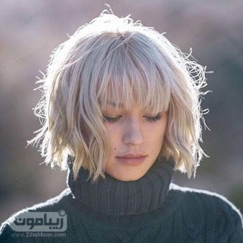 مدل مو مصری فرانسوی کوتاه و موج دار با چتری