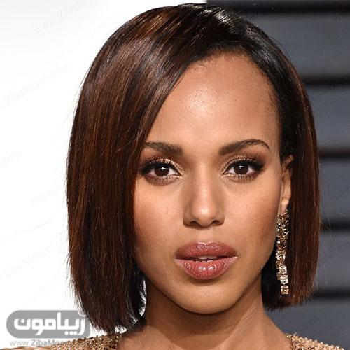 مدل مو مصری زنانه کوتاه با فرق یکطرفه