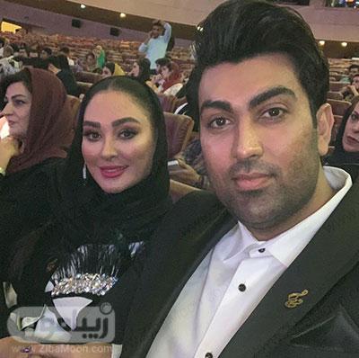 الهام حمیدی و همسرش علیرضا صادقی