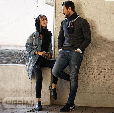 شاهرخ استخری و همسرش سپیده بزمی پور