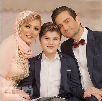 عکس سالگرد ازدواج پویا امینی و همسرش بیتا بجانلی و پسرش ایلیا