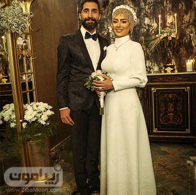 عکس عروسی سمانه پاکدل و هادی کاظمی