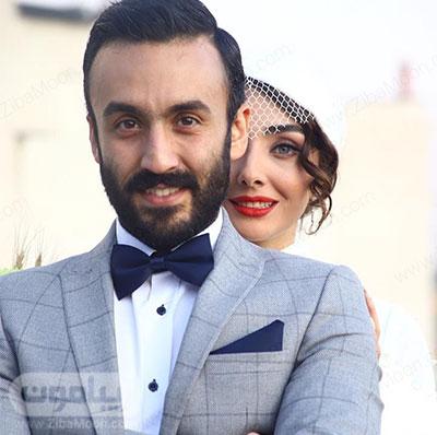 عکس عروسی پویان گنجی و همسرش دریا مرادی