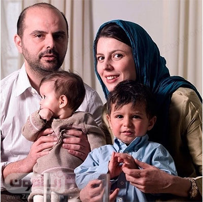 لیلا حاتمی و علی مصطفا با فرزندانشان عسل و مانی