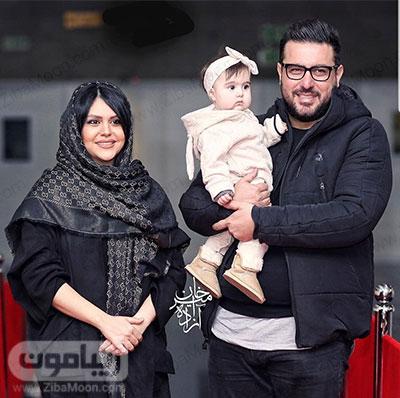 محسن کیایی و همسرش سهیلا امیرحسینی و دخترشان رز