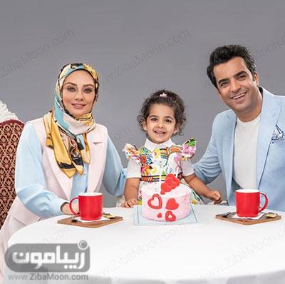 یکتا ناصر و همسرش منوچهر هادی و دخترشان سوفیا