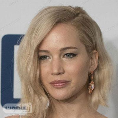مدل مو کوتاه دخترانه به رنگ بلوند با جلو مو یکرطرفه مناسب برای زیر روسری