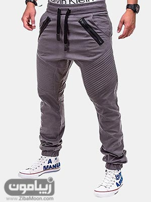 مدل شلوار اسلش مردانه شیک به رنگ خاکستری