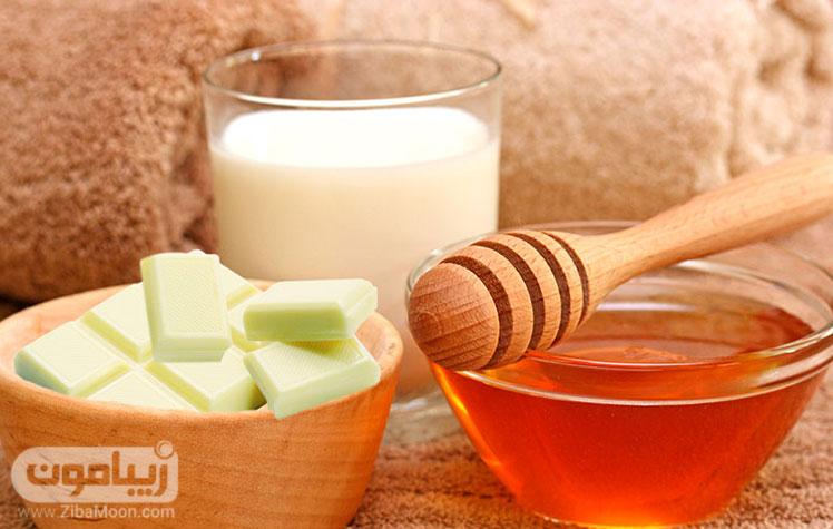 شیر و عسل برای تقویت مو های خشک و آسیب دیده