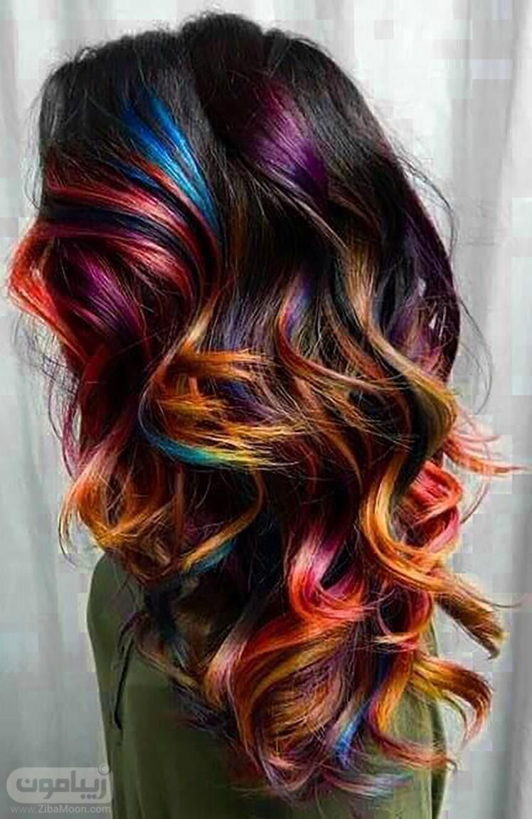 هایلایت روی موی مشکی