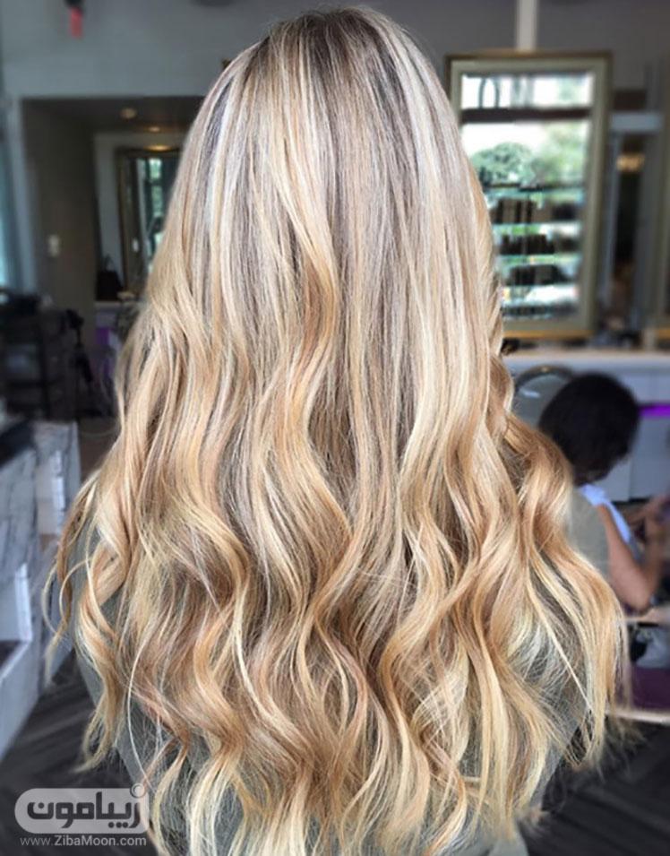 رنگ موی عسلی روشن