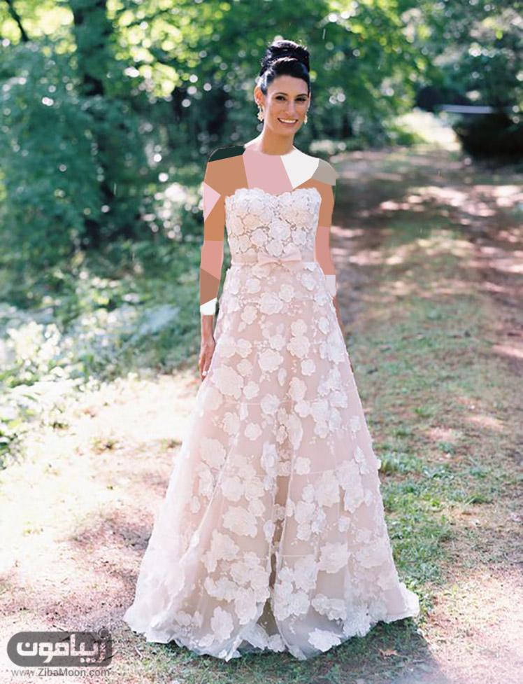 مدل لباس عروس شکوفه دار لباس عروس شکوفه دار (قسمت دوم) - زیبامون