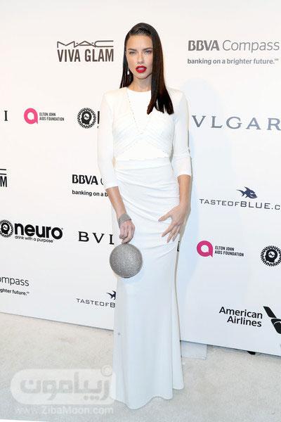 آدریانا لیما و لباس سفید