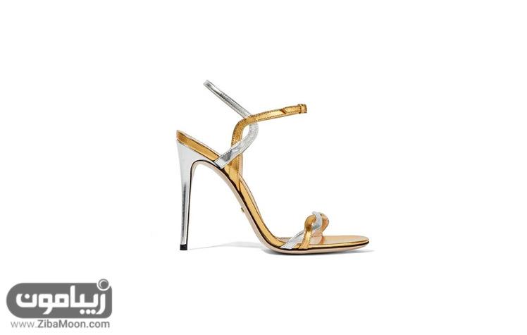 صندل عروس نقرهای و طلایی