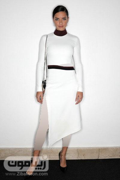 آدریانا لیما و لباس سفید و مشکی