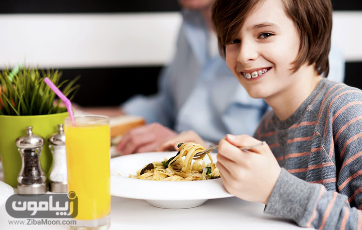 غذا خوردن حین ارتودنسی