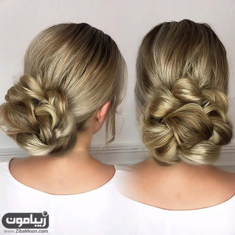 شینیون مو به شکل گل