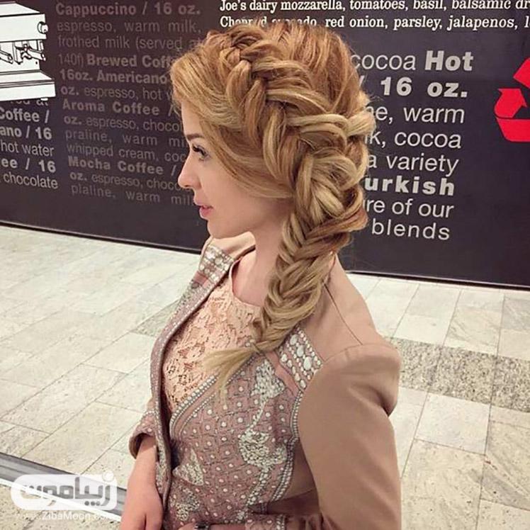 مدل موی یک طرفه ی زیبا