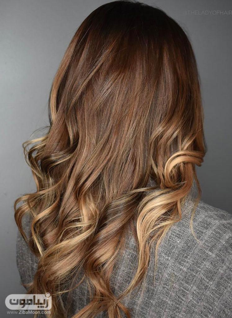 رنگ موی طلایی تیره