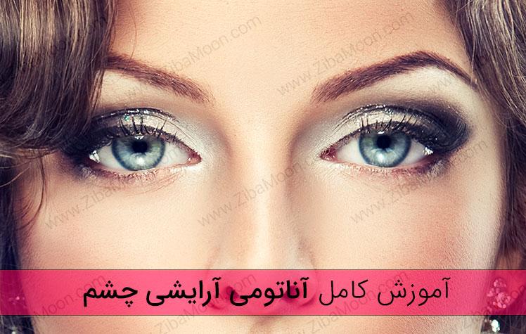 آموزش آرایش چشم، آناتومی + براش و رنگ سایه مناسب