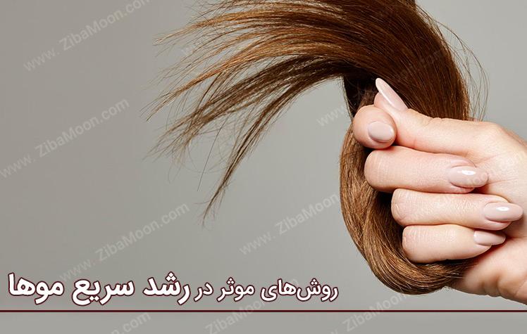رشد سریع مو با بهترین روش های خانگی
