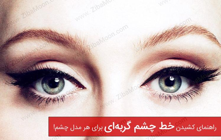 خط چشم گربه ای، آموزش کشیدن خط چشم برای هر مدل چشم