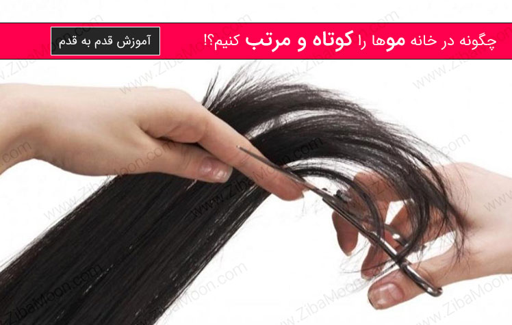 کوتاه کردن مو توسط خودمان، آموزش قدم به قدم + عکس