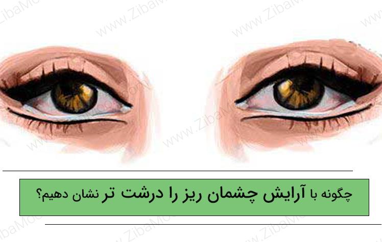 چگونه با آرایش چشمان ریز را درشت تر نشان دهیم؟